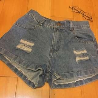 藍色單寧牛仔褲
