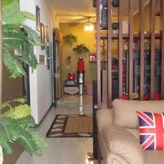 Rumah modern semi furnish