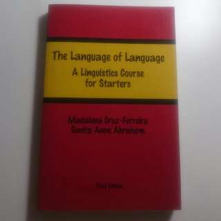 EL1101E/GEK1011 The Language Of Language A Linguistic Course For Starters Third Edition