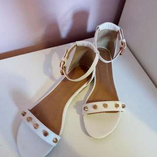 White Studded A sandals