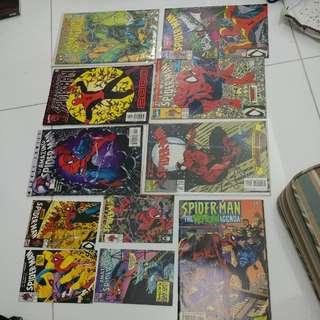 減價一週。絕版珍藏( Spiderman ) 漫畫 + Post Cards