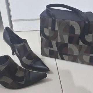 1 Set Aigner Ori Tas & Sepatu