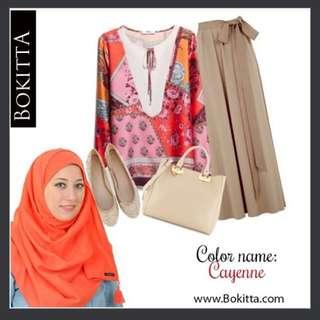💞Preloved Bokitta Hijab V+