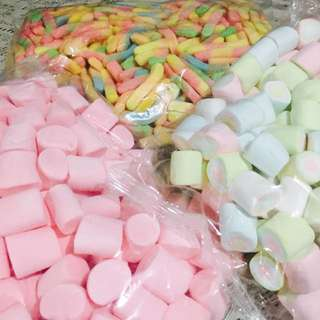 GUMMY WORMS and MARSHMALLOW