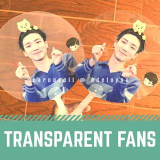 CUSTOMISED TRANSPARENT FANS