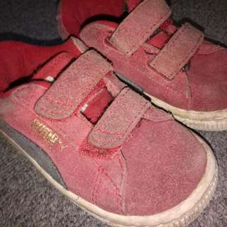 authentic puma suede red kids