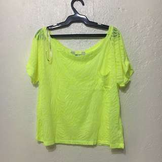 Forever 21 Neon Green Top