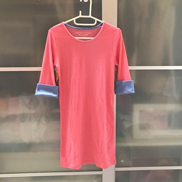 ⭐️全新出清⭐️韓系長版配色上衣