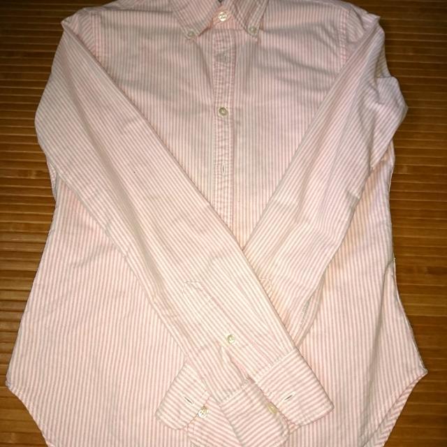 二手粉紅色條紋襯衫#兩百元襯衫