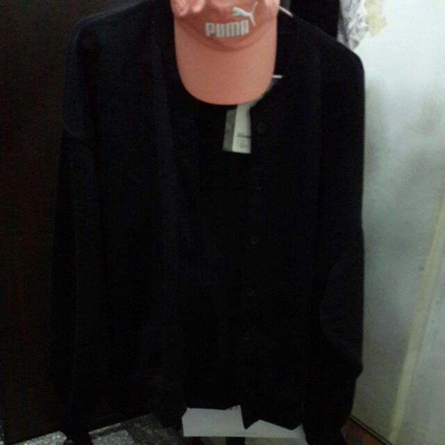 燈籠袖針織外套