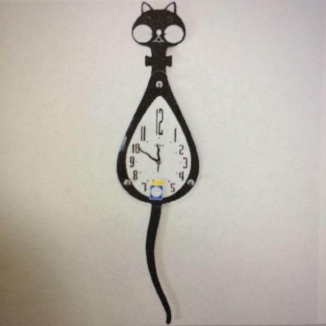 出清 ✨可愛的造型貓咪時鐘