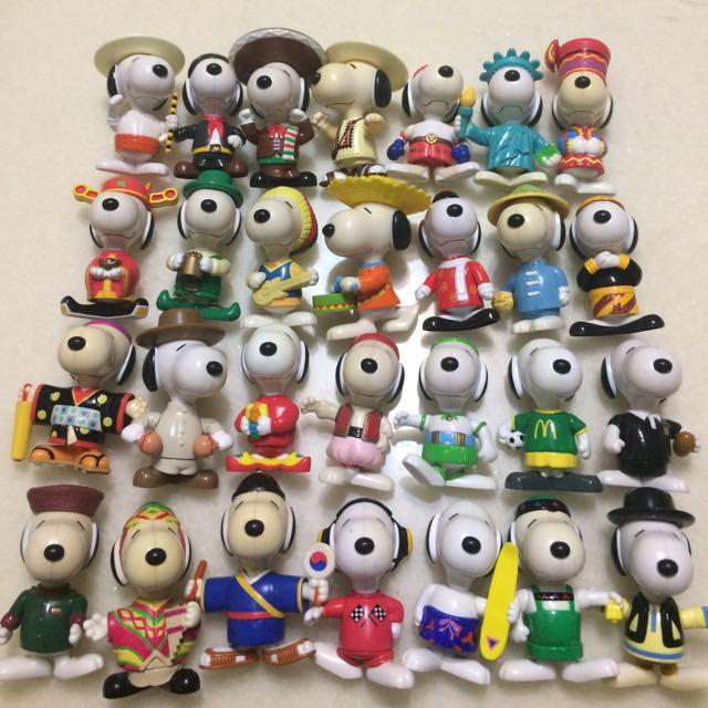 麥當勞玩具 史努比 環遊世界II 收藏公仔