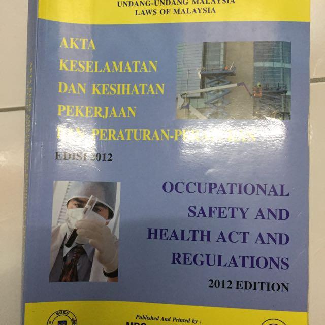 Akta Keselamatan Dan Kesihatan Pekerjaan Textbooks On Carousell
