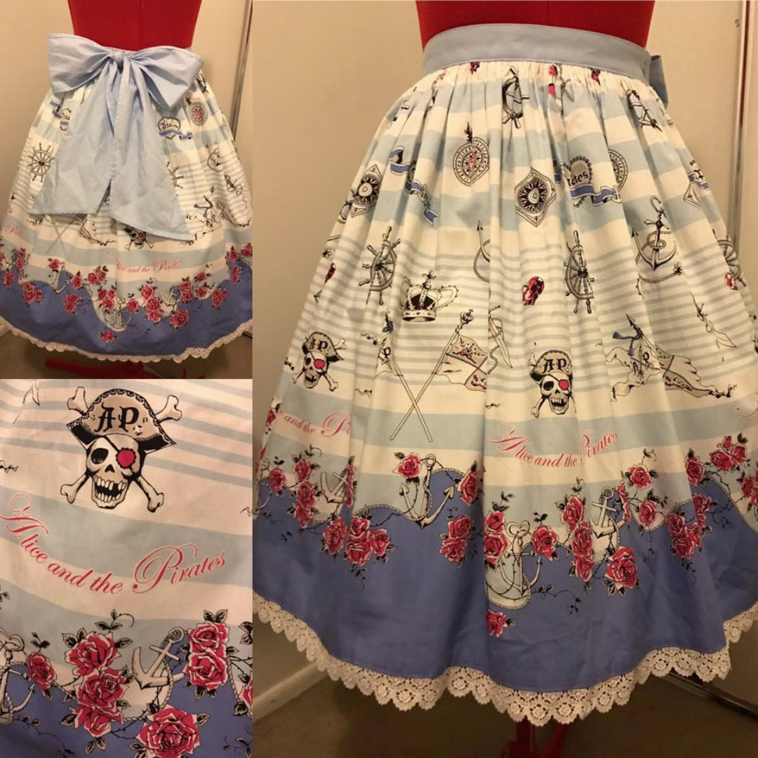 Alice and the Pirates Rose Marine Skirt in Sax