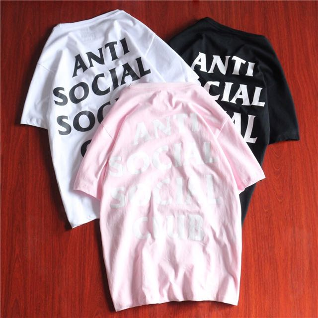 8ee98d7534c3 ASSC Anti Social Social Club White   Black   Pink Tee Oversize ...