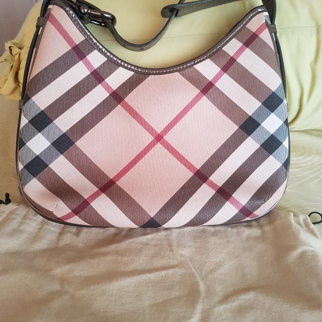 3d17b5aba251 Price Has Been Greatly REDUCED! Authentic Burberry Nova Check Hobo ...
