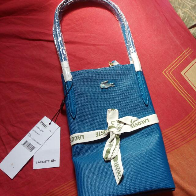 authentic lacoste tote bag(nego)