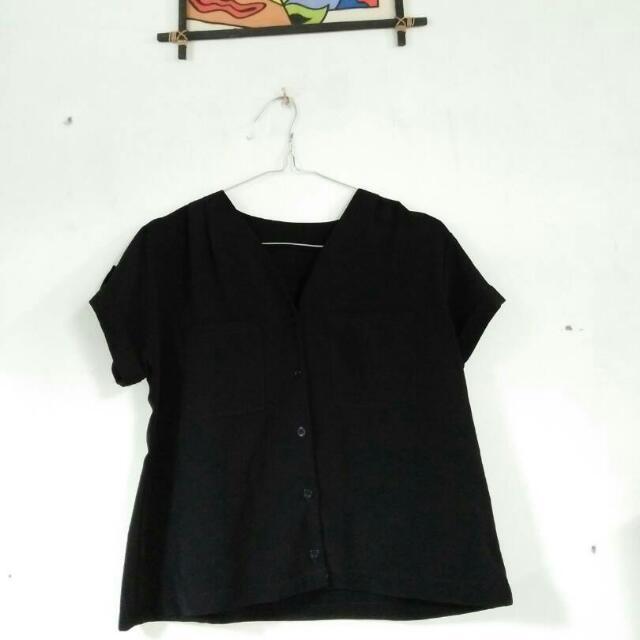 Baju Crop Black