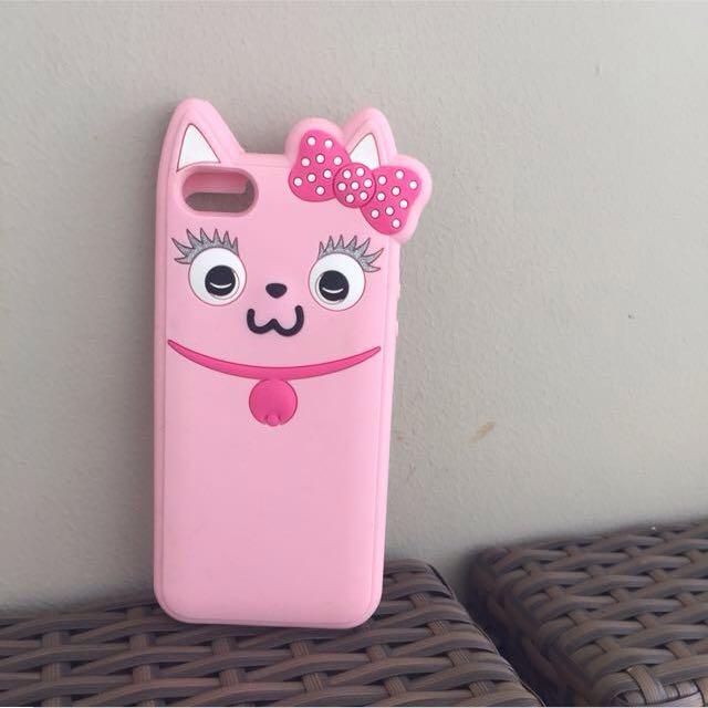 BERSHKA PINK CAT CASE IPHONE 5/s