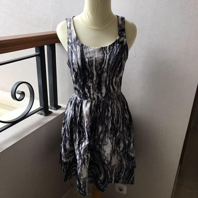 Black Grey Party Dress