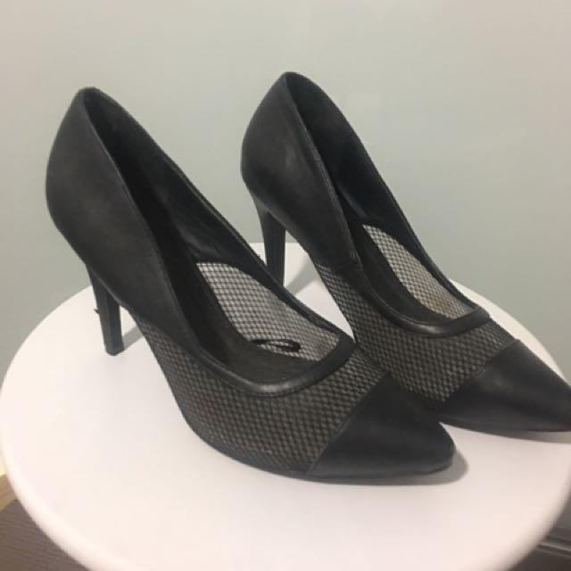 Black Sheer Heel