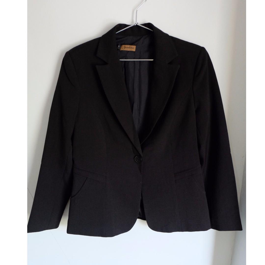 Blazer Wanita + Celana panjang hitam