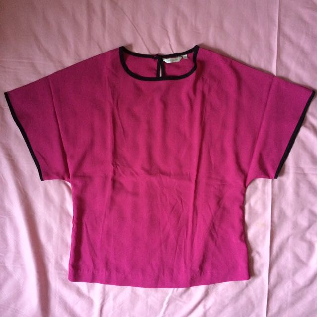 Blouse Accent Fushia Pink