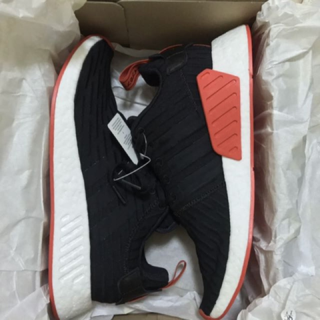 7c3d315b8f6b4 Brand new Adidas NMD R2 PK Black   Red   Bred for sale!