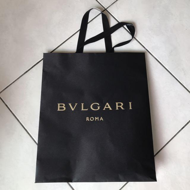 BVLGARI緞面紙袋