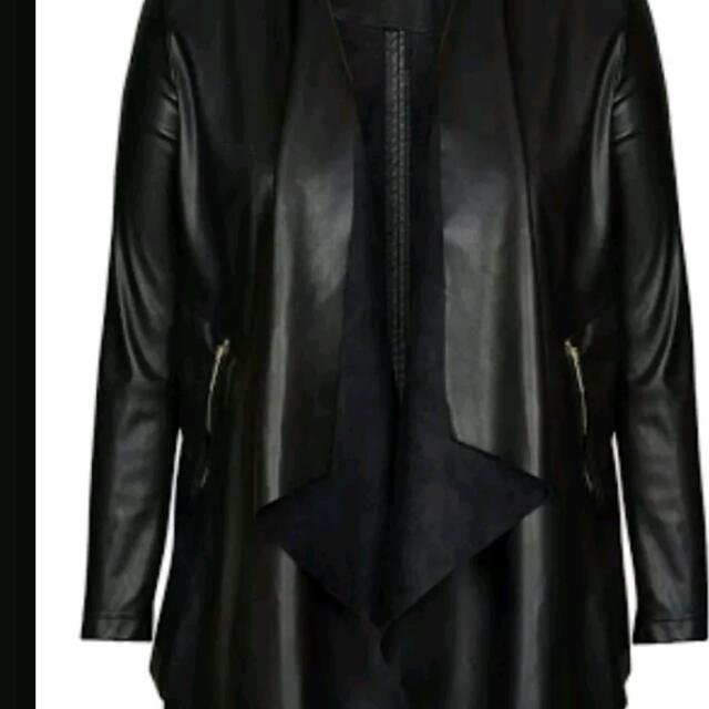 City Chic Leather look Jacket size M