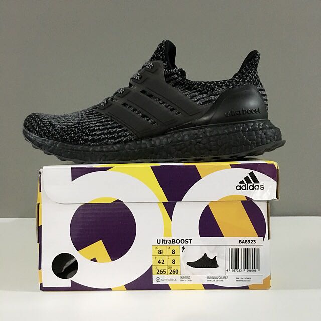 e5440ee712693  CLEARANCE  Adidas Ultra Boost Triple Black Silver