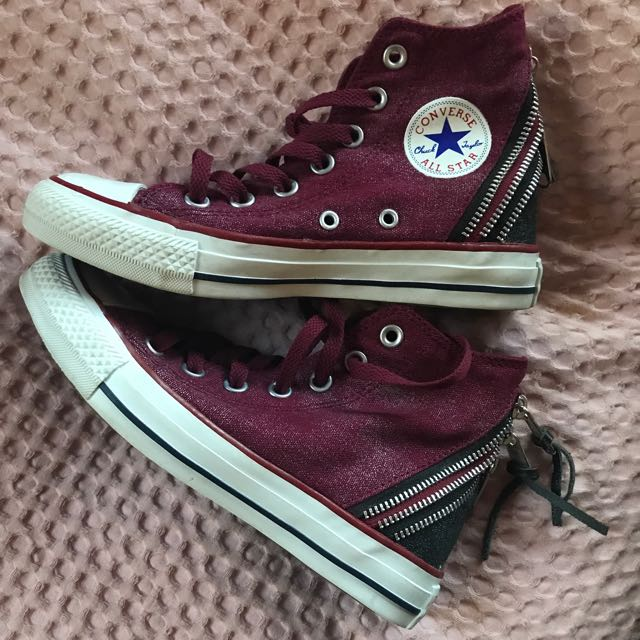 -Converse Womens Shoes, burgundy-