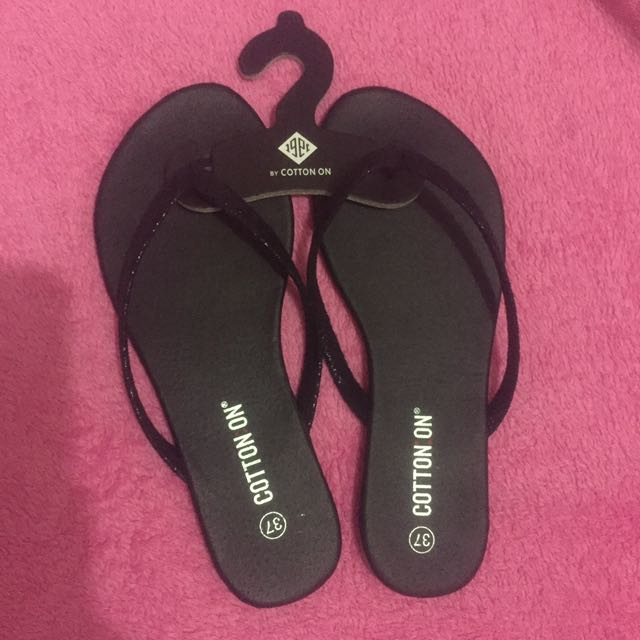 Cotton On Black Slippers