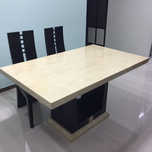 photo photo ... & Cultured Marble Dining Table u0026 4 Chairs Furniture Tables u0026 Chairs ...