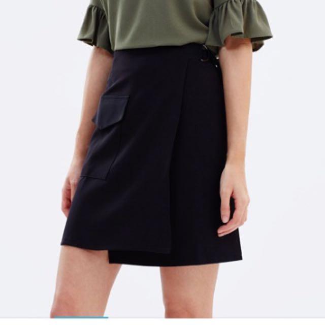 D Ring Wrap Skirt
