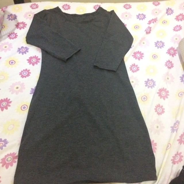Dark Grey Bodycon (fits Small)