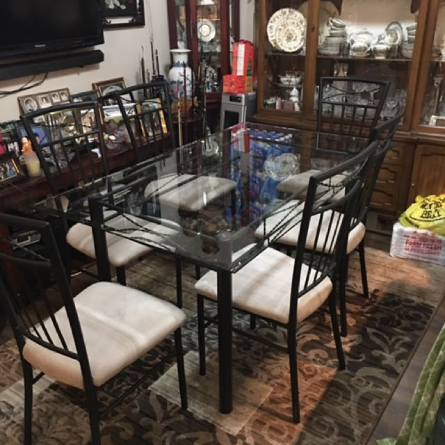 Dining Table Glass And Chairs