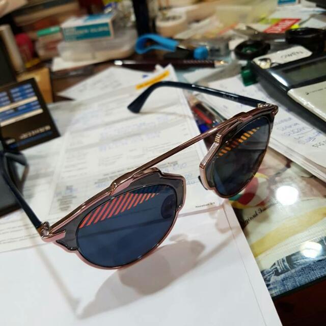 Dior So Real Pink Stripe Sunglasses Original