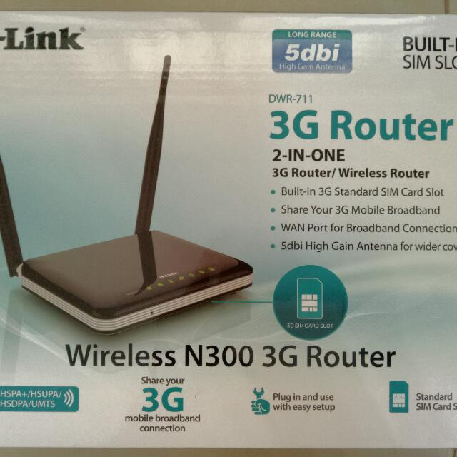 D-Link DWR-711 3G Router For Mobile Data Sim Card