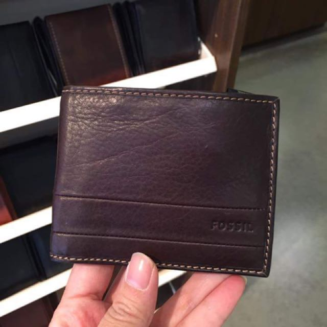 Dompet Fossil Trifold Espresso N Brown