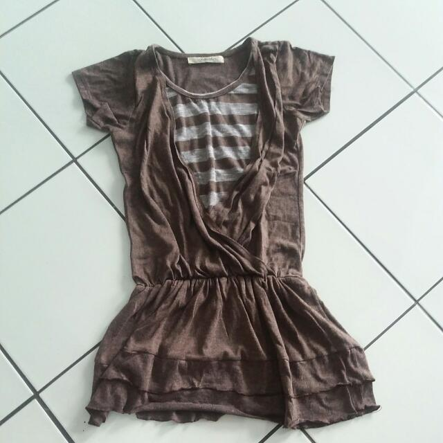 Dress Coklat Mineolla