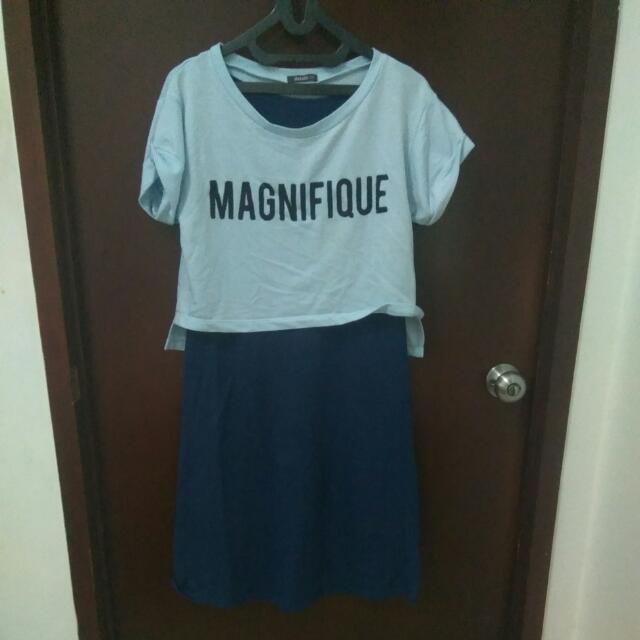 Dress Kaos 2 Piece Blue