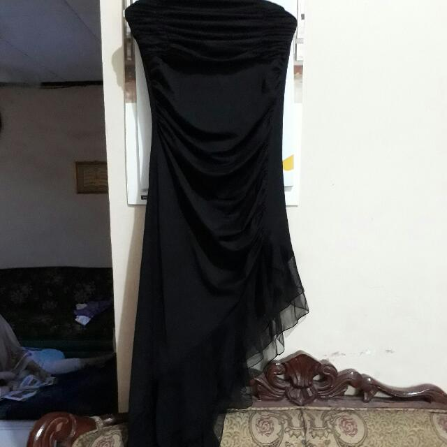 Dress Kemben Hitam Simetris
