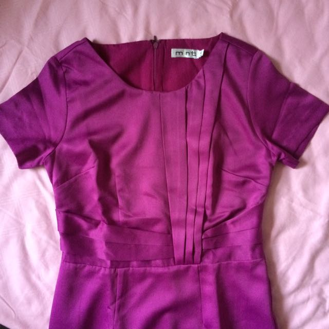 Dress MINT 6 Purple Sateen