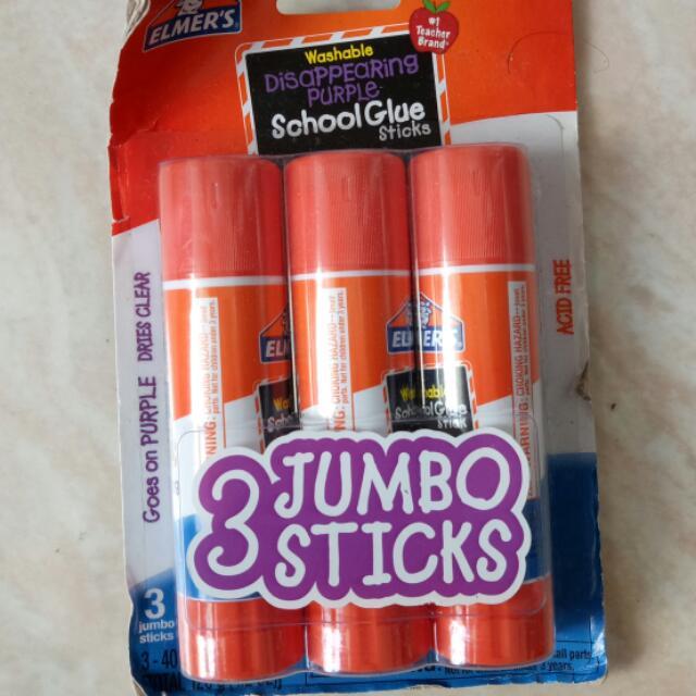 Elmers JUMBO Washable Glue Stick 40g Each
