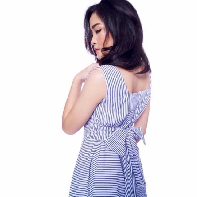 Flare Stripe Dress