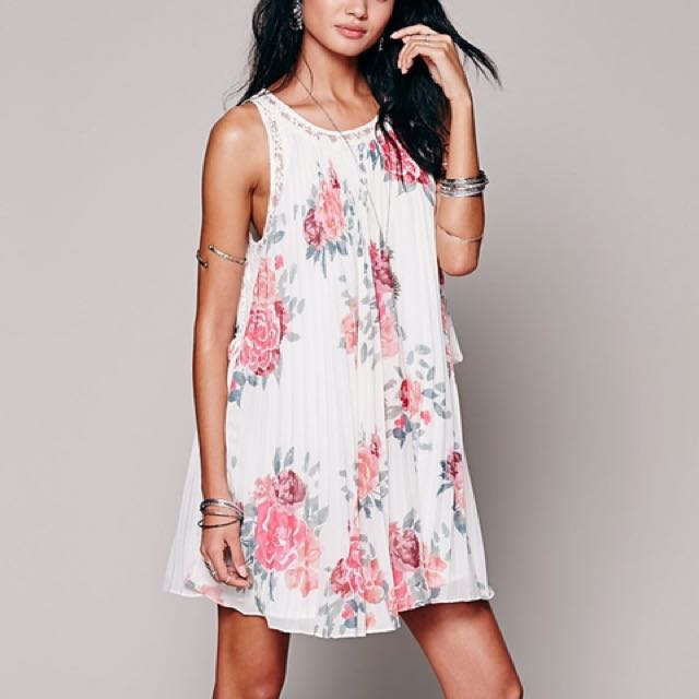 Free People Pleated Tent Floral Dress