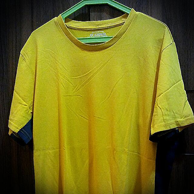 Giordano Yellow Shirt
