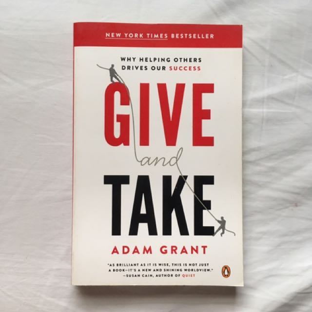 Give & Take By Adam Grant Book