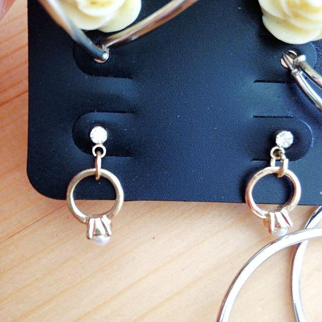 Gold Ring Shape Earrings